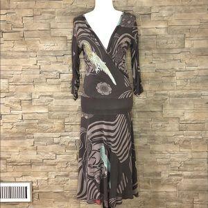 DEPT crossover maxi dress